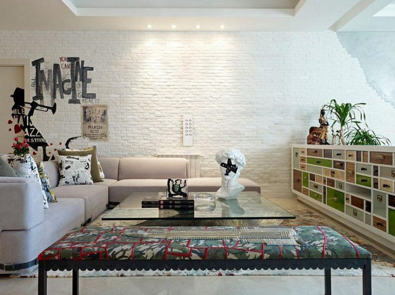 textured white brick wall