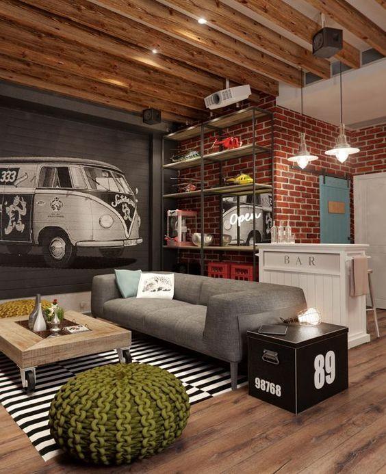 Vintage Rustic Basement Ceiling Ideas
