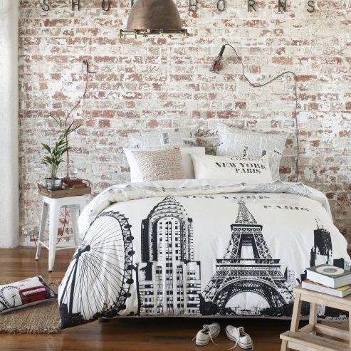 vintage white brick wall