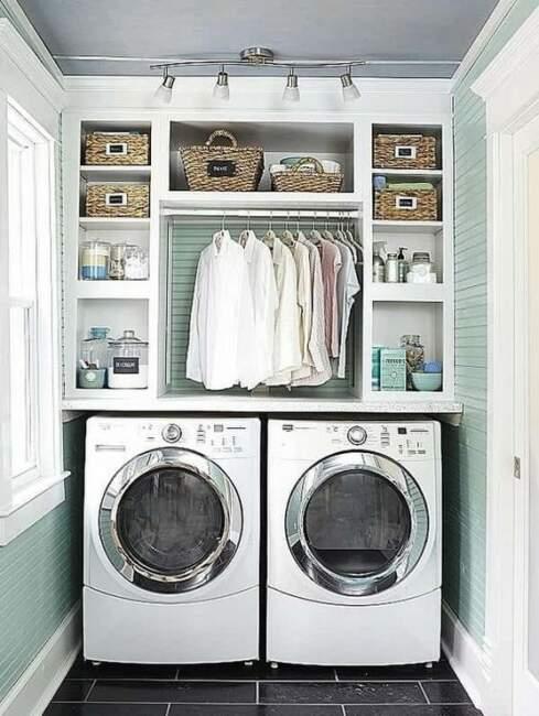 DIY small farmhouse laundry room ideas