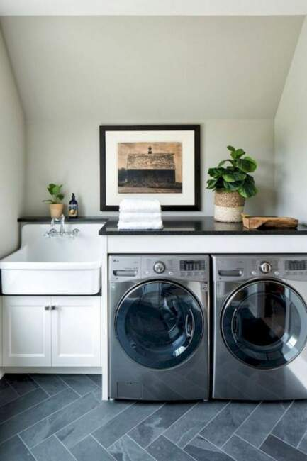 attic farmhouse laundry roomwith sink ideas