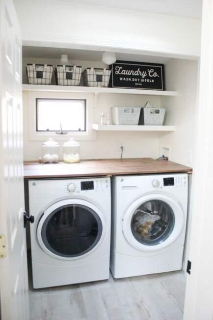farmhouse laundry room design on a budget