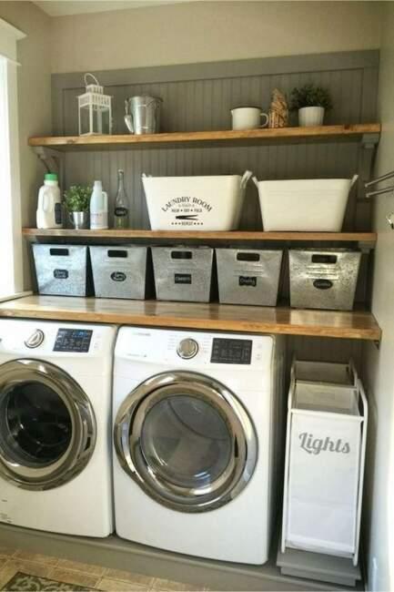 farmhouse laundry room small