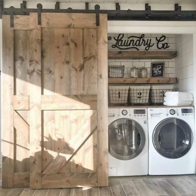 rustic farmhouse laundry room ideas