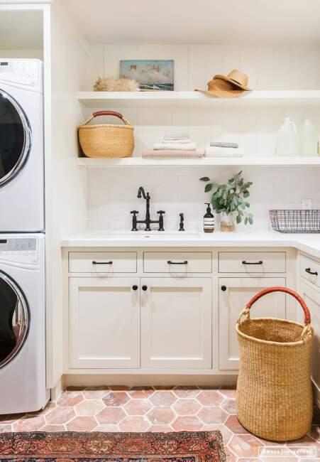 shabby chic laundry room design ideas