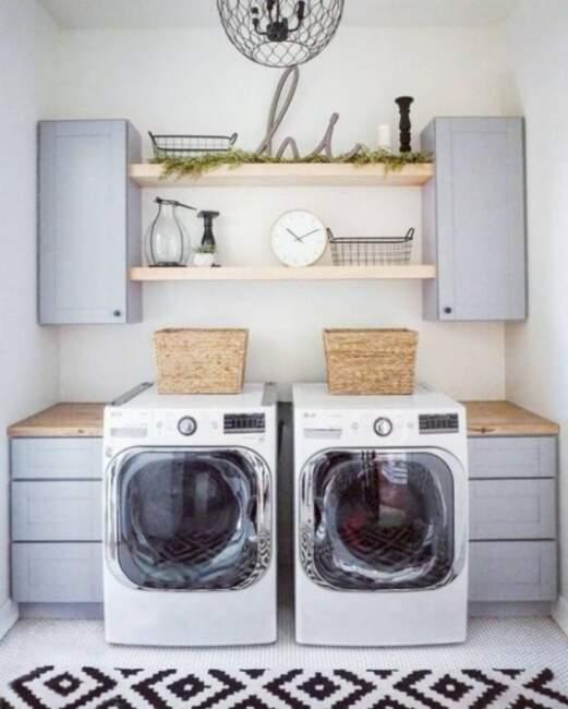simple ideas for farmhouse laundry room