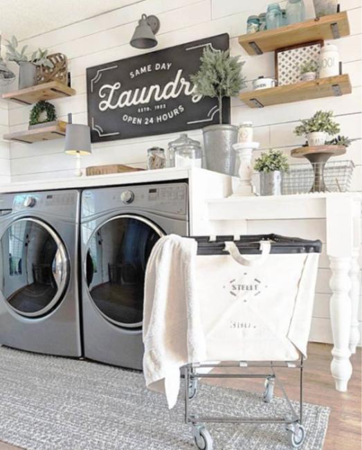 small farmhouse laundry room ideas