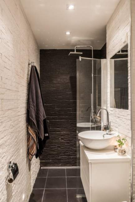 Black and White Basement Bathroom Ideas