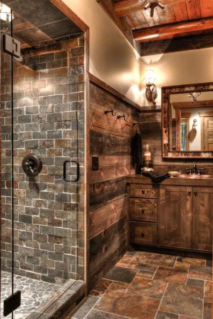 Rustic Basement Bathroom Ideas