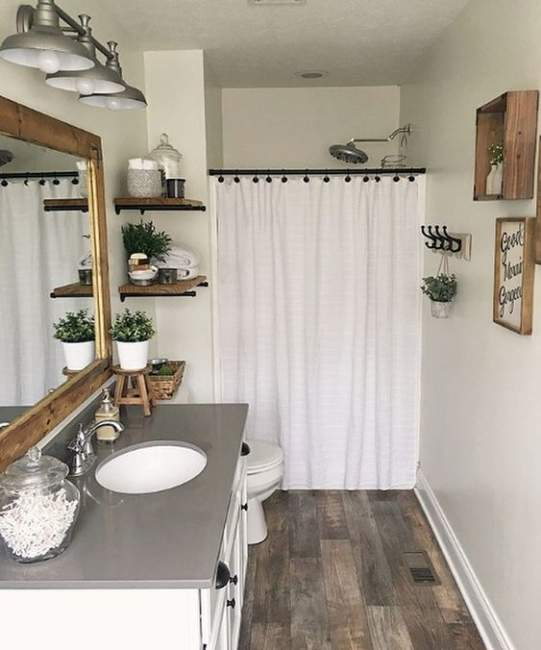 Rustic Farmhouse Basement Bathroom Ideas