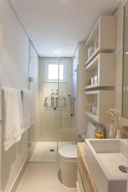White Savvy Basement Bathroom Ideas