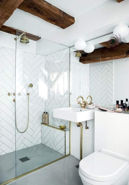 Wood Ceiling Basement Bathroom Ideas
