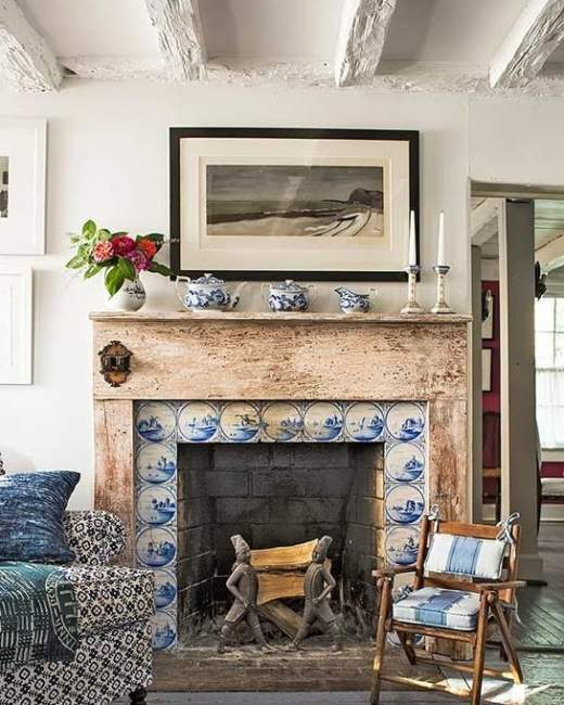 Craftsman Fireplace Tile Ideas