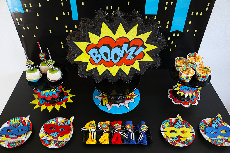 Superhero Birthday Celebration Party Planning Children