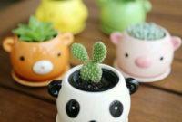 head animal cactus pot design